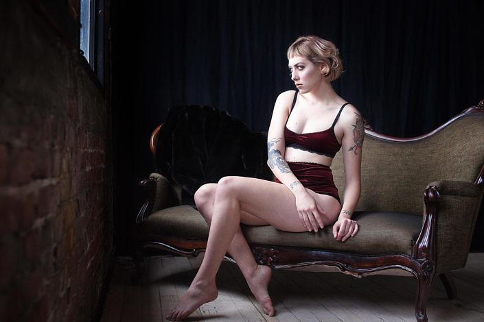 Lingerie on Model